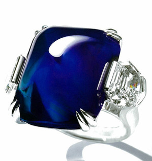 319 Kashmir Sapphire Diamond Ring by Mouawad