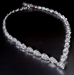 Pear-shaped Diamond Necklace