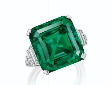 18.04ct Colombian Emerald Diamond Ring by YARD