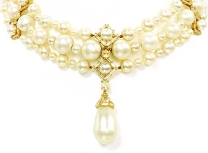 Natural Pearl Three-strand Necklace