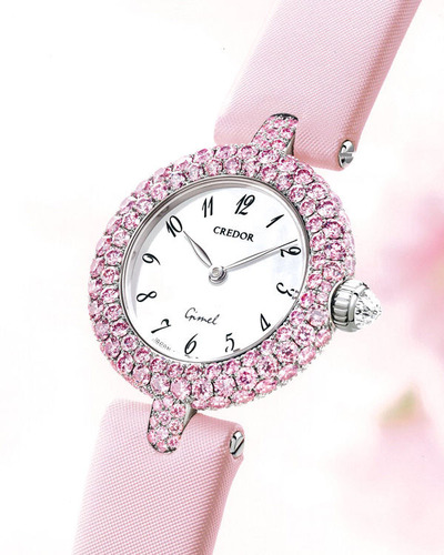 Gimel watch pink diamonds