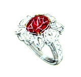 3ct size Ruby Oval (UT) Diamond Ring Design