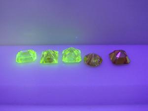 合成ファンシーイエローダイヤモンド蛍光