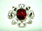 3ct size Ruby Oval (UT) Diamond Ring 石合わせ