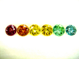 Treated color diamonds