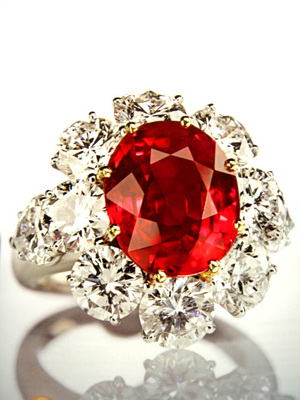 03cts Burmese Ruby Untreated SSEF By Graff