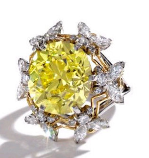 11.13cts Fancy Vivid Yellow VS2 SCHLUMBERGER FOR TIFFANY & CO