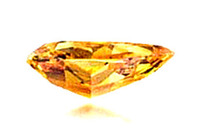 14.82ct Fancy Vivid Orange VS1 side view