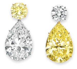 Lot307 PS 52.78ct F. Yellow SI1+50.31ct K SI1