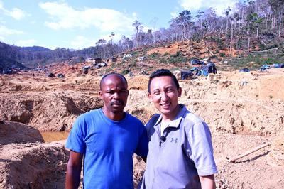 マダガスカル サファイア鉱山