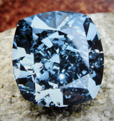 7.03cts Fancy Vivid Blue IF