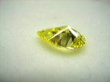 1.5ct size Fancy Vivid Yellow pavilion