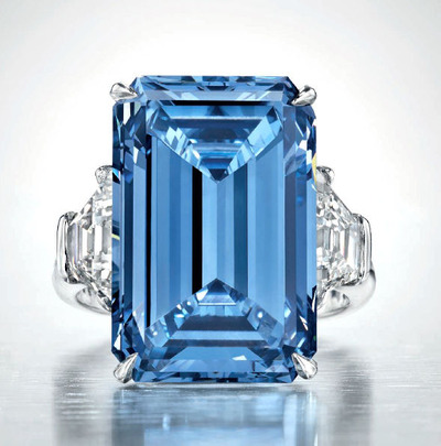 OPPENHEIMER BLUE Diamond ring14.62ct Fancy Vivid Blue VVS1