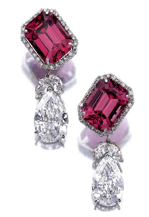481 Spinel 20.00+20.07ct & Diamond PS 7.27+8.78ct D VVS1