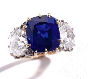 6.61cts Kashmir Sapphire Ring Circa 1900