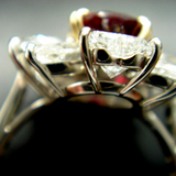 90% Complete 3ct size Ruby Dia Ring back view