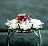 3ct size Ruby Diamond Ring 石載せ 横から