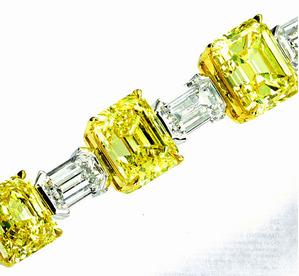 298 F.V.Y.&White Diamond Bracelet tolal 40.02ct