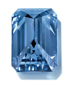 14.62ct Fancy Vivid Blue VVS1 Back view