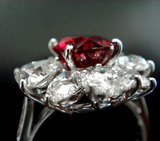 3ct UT Ruby Dia Ring Complete side view