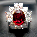 90% Complete 3ct size Ruby Dia Ring front view