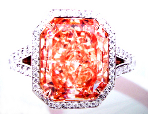7.67ct F. I. Pinkish Orange