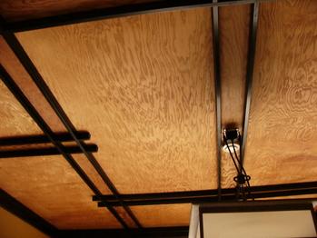 渡月庵の一枚いたの天井