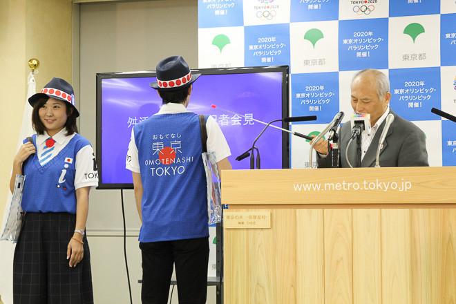 【画像】 ダッサ… 東京都観光ボランティアの公式制服が決定! 「舛添知事 定例記者会見」