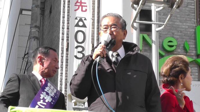 「舛添が言っている外国人に参政権を与えるのは論外」石原慎太郎共同代表