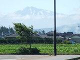 道の駅にしめからの鳥海山の眺め