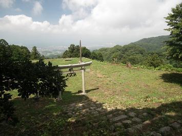 七尾城 本丸からの眺め