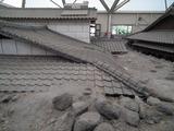 土石流被災家屋保存公園のテント内部