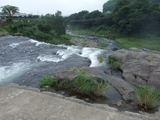 原尻の滝 沈下橋より下流方面を望む