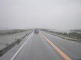 左に太平洋、右には松川浦