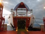 津軽海峡フェリー びなす号 車両入口
