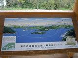 筆影山展望台にある案内図