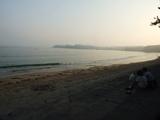 大谷海岸の砂浜