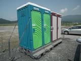 奇跡の一本松 駐車場 仮設トイレ
