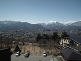 大町山岳博物館からの眺望 中央