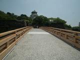 大阪城 極楽橋の正面上に天守閣