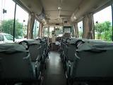 展望台観光シャトルバスの車内