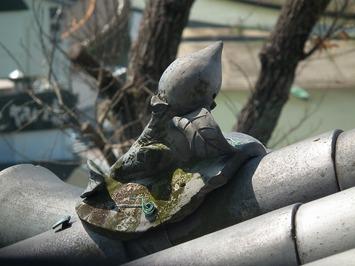 犬山城 桃の瓦