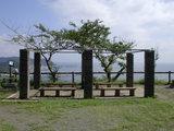 披露山公園先端のベンチ