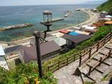 龍飛岬 階段国道からの眺望