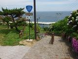 龍飛岬 階段国道 途中の広場
