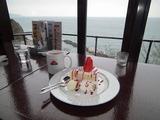 日の出☆海が見える店 いちごショートケーキとアメリカン