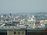 岡崎城 天守閣から北方面を望む