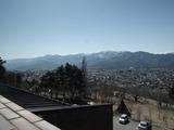 大町山岳博物館からの眺望 左側