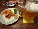 南蛮えび、ビール