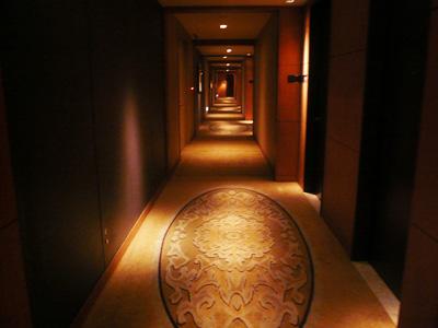 ホテルの廊下はこんな感じ
